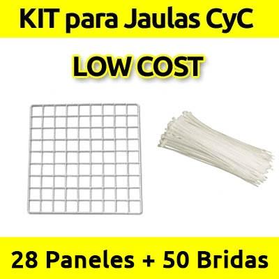CagesCubes - KIT LOW COST blanco para Jaulas C&C - 28 paneles - 50 bridas