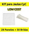 CagesCubes - KIT LOW COST blanco para Jaulas CyC (28 paneles-50 bridas)