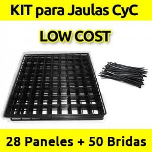 CagesCubes - KIT LOW COST negro para Jaulas C&C - 28 paneles - 50 bridas