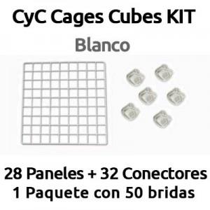 CyC cages cubes kit para jaulas de COBAYAS blanco