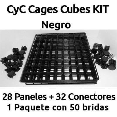 CyC cages cubes kit para jaulas de COBAYAS negro
