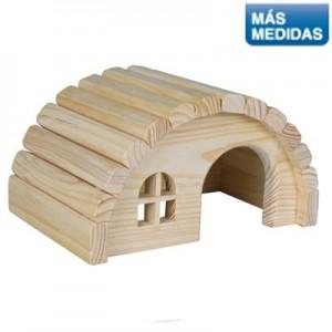 Trixie Casita con techo curvo para conejos y cobayas
