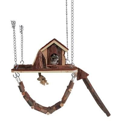 Trixie Casita JANNE con parque de juegos colgante para hamsters
