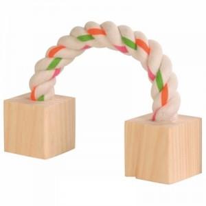 Trixie Juguete de cuerda con tacos de madera para conejos y roedores