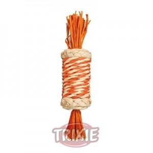 Trixie Juguete para roer con cuerda de paja para conejos y roedores