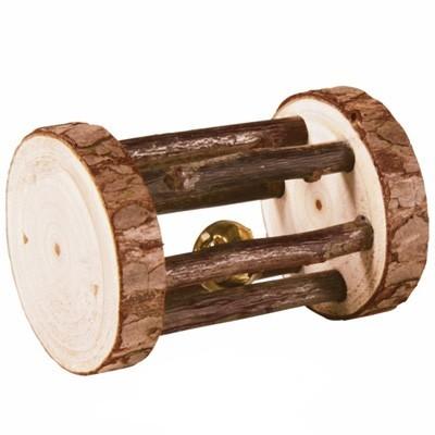 Trixie Juguete rodante de madera con cascabel para conejos y roedores
