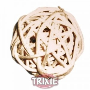 Trixie Juguete de pelota de mimbre para conejos y pequeños roedores