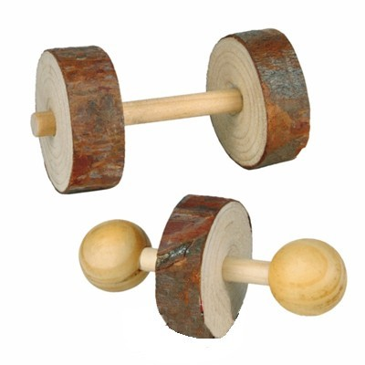 Trixie Juguete 2 piezas de madera para conejos y pequeños roedores