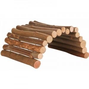 Trixie Accesorio puente de madera flexible para hamsters y pequeños roedores