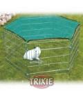 Trixie Parque de juegos cubierto con red para conejos y cobayas