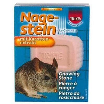 Trixie Bloque mineral para roer con extracto de zanahoria para chinchillas 220 gr