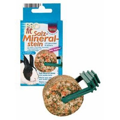 Trixie Bloque mineral para roer de semillas y hierbas para cobayas y roedores 95 gr