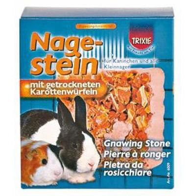 Trixie Bloque mineral para roer con zanahoria para cobayas y pequeños roedores 75 gr