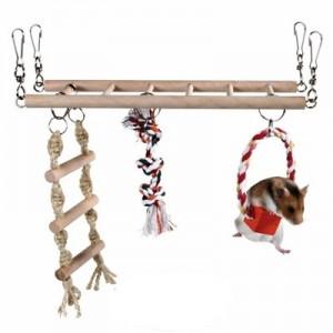 Trixie Puente para escalar con columpio para hamsters