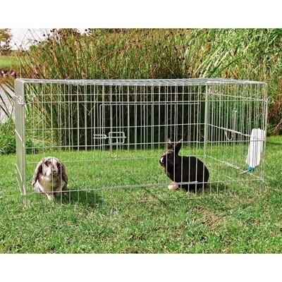 Trixie Parque cubierto con puerta lateral para conejos y cobayas