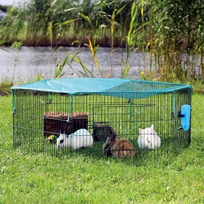 Trixie Parque cubierto con red para conejos y cobayas