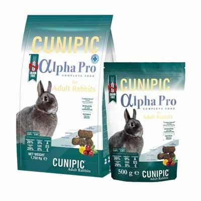 Cunipic Alpha Pro Pienso para conejos adultos Grain Free
