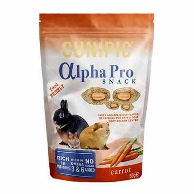 Cunipic Alpha Pro Snack de Zanahoria para conejos y roedores