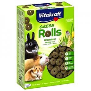 Vitakraft Green Rolls rings de alfalfa para roedores