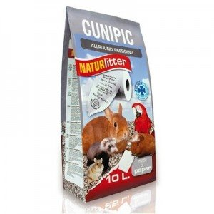 Cunipic Naturlitter Lecho papel reciclado prensado para roedores