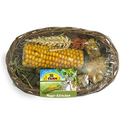 jr farm cesta de snacks y golosionas para conejos y roedores