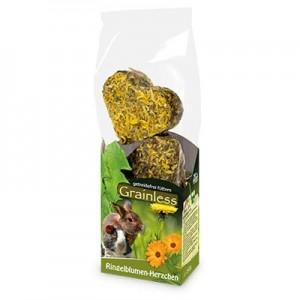 JR FARM Snack Grainless Corazones de Calendula para conejos y roedores