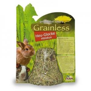 JR FARM Campana de heno y hibiscus para conejos y roedores