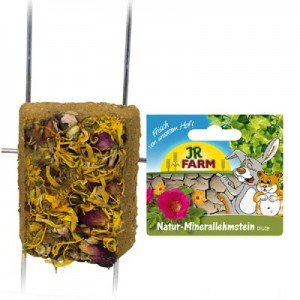 JR FARM Piedra para roer de marga con flores para conejos y roedores