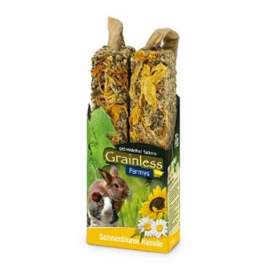JR FARM Barritas FARMY´S Grainless Light con girasol y manzanilla para roedores