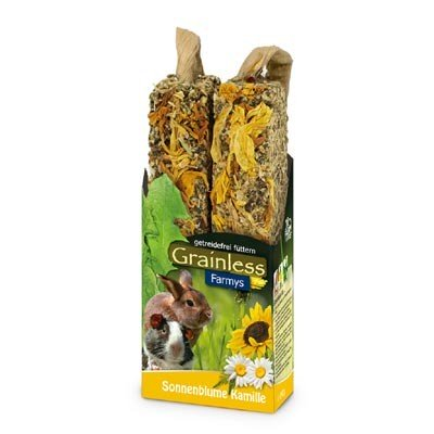 JR FARM Barritas FARMY´S Grainless Light con girasol y manzanilla para roedores