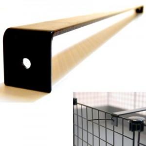 CagesCubes - Barra Soporte negra para Jaulas C&C