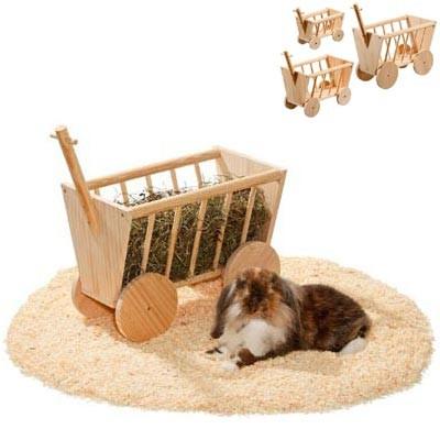 Karlie Henera carretilla de madera para conejos y roedores