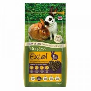 Burgess Excel Pienso con oregano para conejos adultos