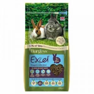 Burgess Excel Pienso con menta para conejos baby y conejos Toy adultos