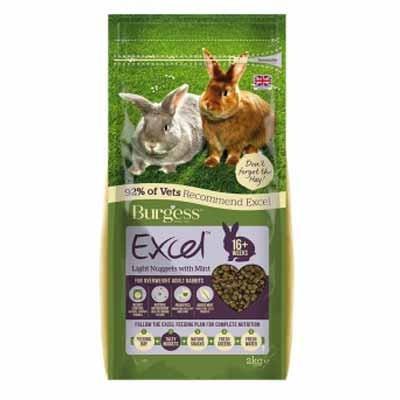 Burgess Excel Pienso light con menta para conejos adultos