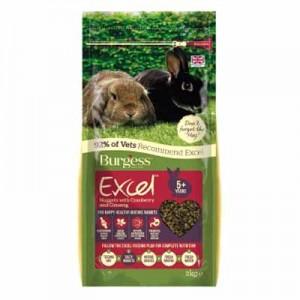 Burgess Excel Pienso con arándanos y ginseng para conejos senior