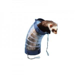 Ferplast Juguete Curva de plastico transparente para cobayas y conejos enanos