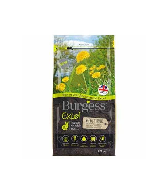 cf714fb6d35b Burgess Excel Pienso mix de hierbas nature`s blend para conejos adultos