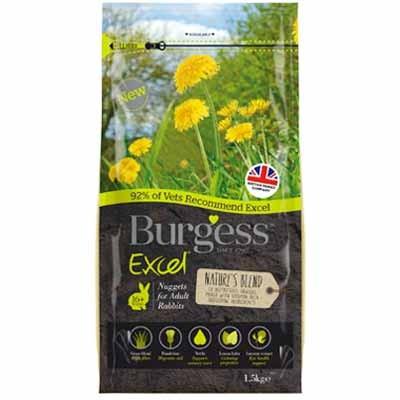 Burgess Excel pienso natures blend mix de hierbas para conejos adultos
