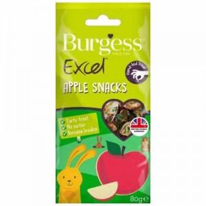 Burgess Excel snack trozos de manzana para conejos y cobayas