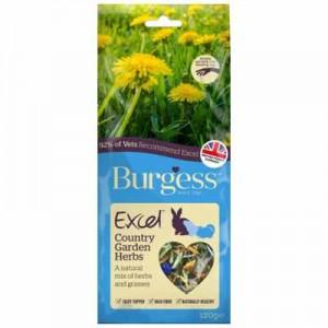 Burgess Excel snack mix hierbas de campo para conejos y cobayas