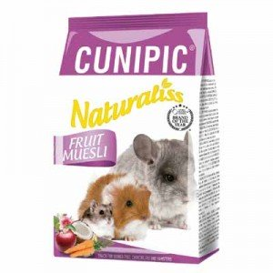 Cunipic naturaliss snack fruit muesli para chinchillas y roedores