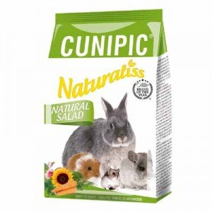 cunipic naturaliss snack natural salad para conejos y cobayas