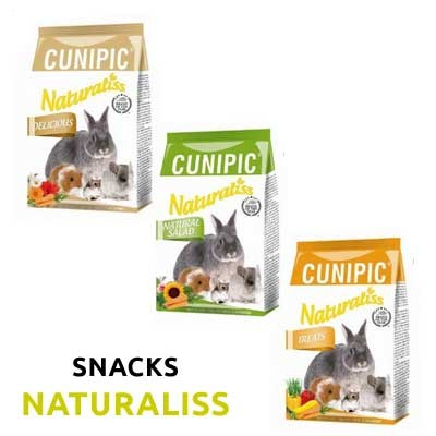 pack snack cunipic naturaliss para conejos y roedores